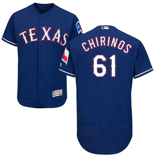 Texas Rangers #61 Robinson Chirinos Blue Flexbase Authentic Collection Stitched Baseball Jersey