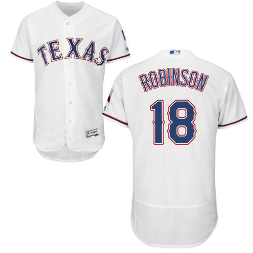 Texas Rangers #18 Drew Robinson White Flexbase Authentic Collection Stitched Baseball Jersey