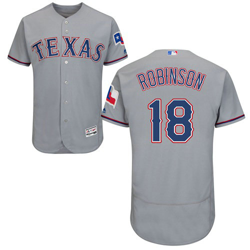Texas Rangers #18 Drew Robinson Grey Flexbase Authentic Collection Stitched Baseball Jersey