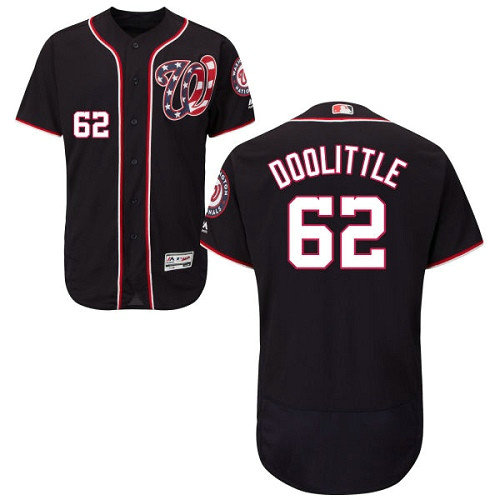 Washington Nationals #62 Sean Doolittle Navy Blue Flexbase Authentic Collection Stitched Baseball Jersey