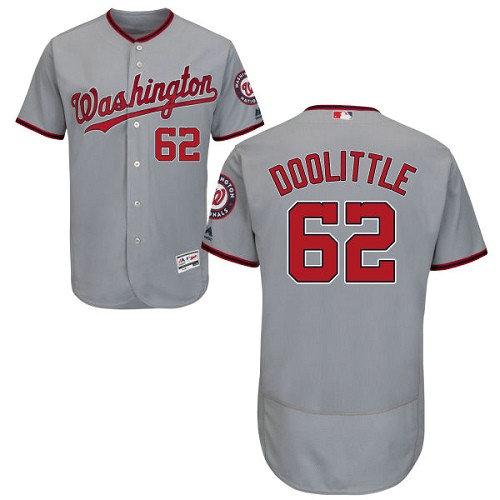 Washington Nationals #62 Sean Doolittle Grey Flexbase Authentic Collection Stitched Baseball Jersey