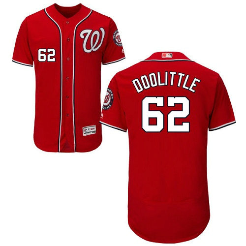 Washington Nationals #62 Sean Doolittle Red Flexbase Authentic Collection Stitched Baseball Jersey