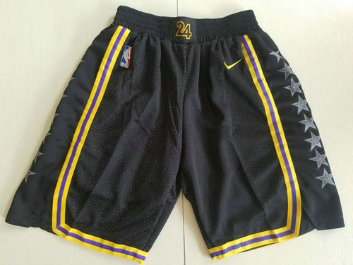 Men Nike Los Angeles Lakers Black NBA Swingman City Edition Shorts
