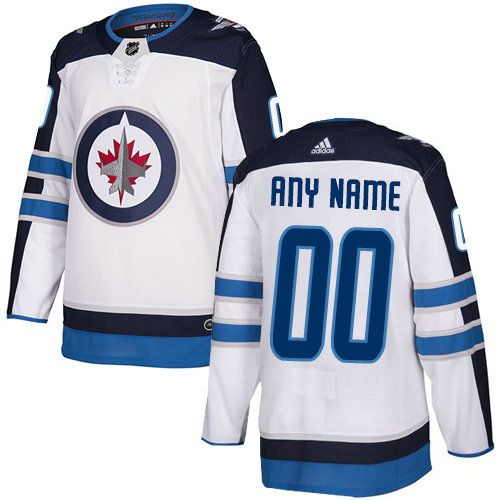 Men's Adidas Winnipeg Jets Away NHL Authentic White Customized Jersey