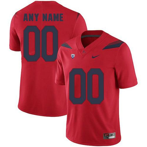 Arizona Wildcats Red Men's Customized College Football Jersey