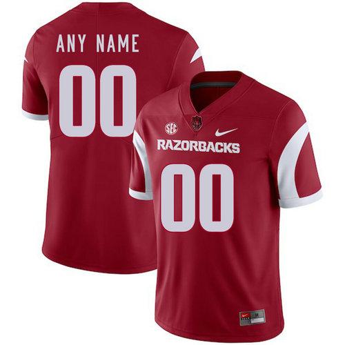 Arkansas Razorbacks Men's Customized Red College Football Jersey