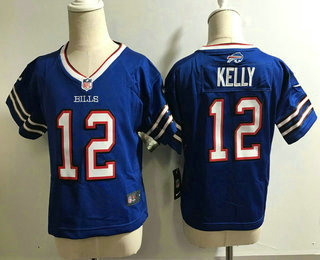 Toddler Buffalo Bills #12 Jim Kelly Retired Royal Blue Stitched NFL Nike Game Jersey