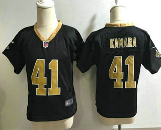 Toddler New Orleans Saints #41 Alvin Kamara Black Team Color Stitched NFL Nike Game Jersey