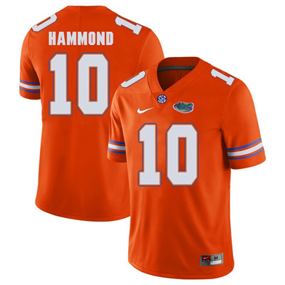 Florida Gators Orange #10 Josh Hammond Football Player Performance Jersey