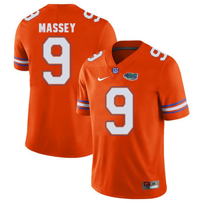 Florida Gators Orange #9 Dre Massey Football Player Performance Jersey