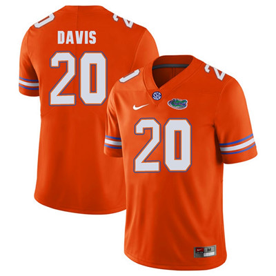 Florida Gators Orange #20 Malik Davis Football Player Performance Jersey