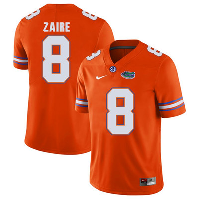 Florida Gators Orange #8 Malik Zaire Football Player Performance Jersey