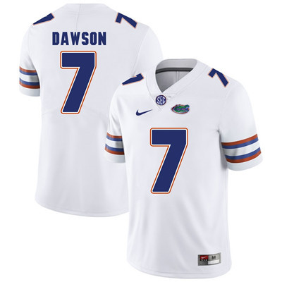 Florida Gators White #7 Duke Dawson Football Player Performance Jersey