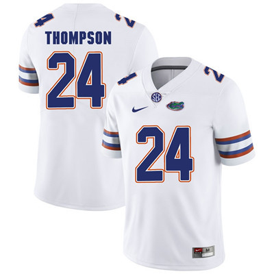 Florida Gators White #24 Mark Thompson Football Player Performance Jersey