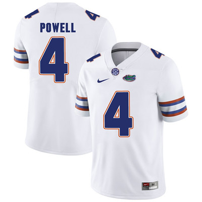 Florida Gators White #4 Brandon Powell Football Player Performance Jersey