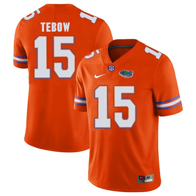 Florida Gators Orange #15 Tim Tebow Football Player Performance Jersey