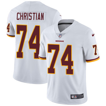 Nike Washington Redskins #74 Geron Christian White Men's Stitched NFL Vapor Untouchable Limited Jersey