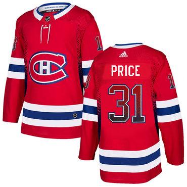Men's Montreal Canadiens #31 Ken Price Red Drift Fashion Adidas Jersey
