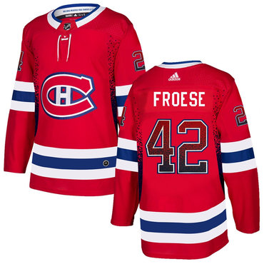 Men's Montreal Canadiens #92 Byron Froese Red Drift Fashion Adidas Jersey