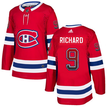Men's Montreal Canadiens #9 Maurice Richard Red Drift Fashion Adidas Jersey