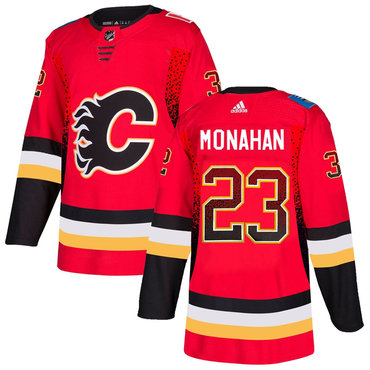 Men's Calgary Flames #23 Sean Monahan Red Drift Fashion Adidas Jersey