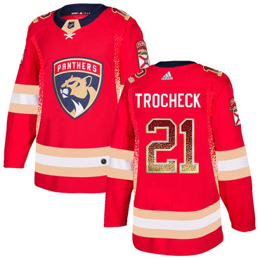 Men's Florida Panthers #21 Vincent Trocheck Red Drift Fashion Adidas Jersey