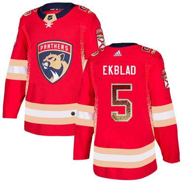 Men's Florida Panthers #5 Aaron Ekblad Red Drift Fashion Adidas Jersey