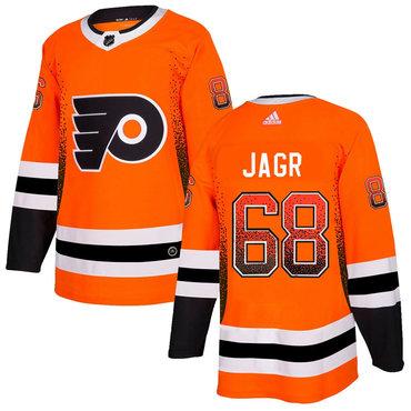 Men's Philadelphia Flyers #68 Jaromir Jagr Orange Drift Fashion Adidas Jersey