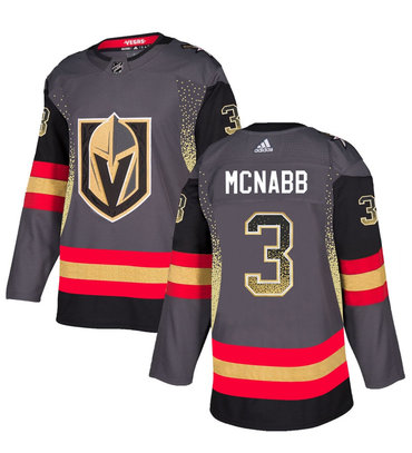 Men's Vegas Golden Knights #3 Brayden McNabb Gray Drift Fashion Jersey