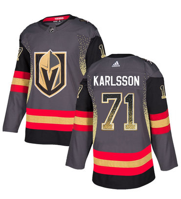 Men's Vegas Golden Knights #71 William Karlsson Gray Drift Fashion Jersey