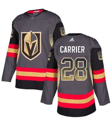 Men's Vegas Golden Knights #28 William Carrier Gray Drift Fashion Jersey