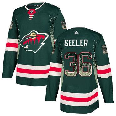 Men's Minnesota Wild #36 Nick Seeler Green Drift Fashion Adidas Jersey