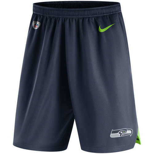 Men's Seattle Seahawks Nike College Navy Knit Performance Shorts