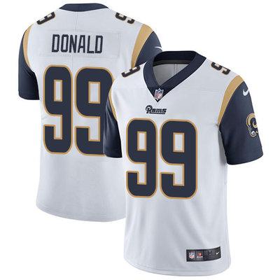 Men's Nike Los Angeles Rams #99 Aaron Donald White Stitched NFL Vapor Untouchable Limited Jersey