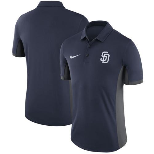 Men's San Diego Padres Nike Navy Franchise Polo