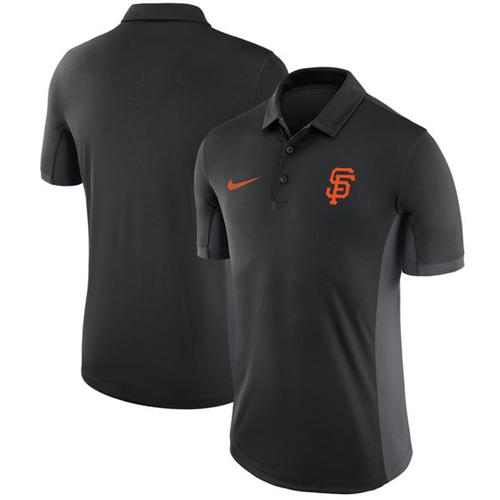 Men's San Francisco Giants Nike Black Franchise Polo