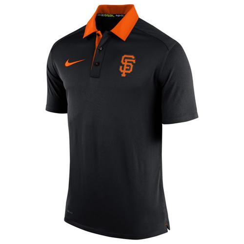 Men's San Francisco Giants Nike Black Authentic Collection Dri-FIT Elite Polo