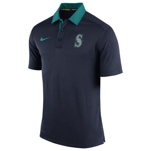 Men's Seattle Mariners Nike Navy Authentic Collection Dri-FIT Elite Polo