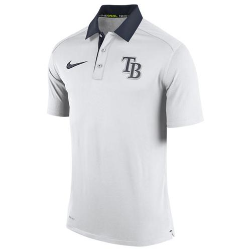 Men's Tampa Bay Rays Nike White Authentic Collection Dri-FIT Elite Polo