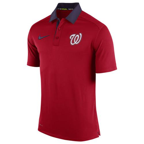 Men's Washington Nationals Nike Red Authentic Collection Polo