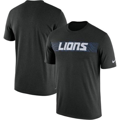 Detroit Lions Nike Black Sideline Seismic Legend T-Shirt