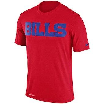Men's Buffalo Bills Nike Red Legend Wordmark Essential 3 Performance T-Shirt