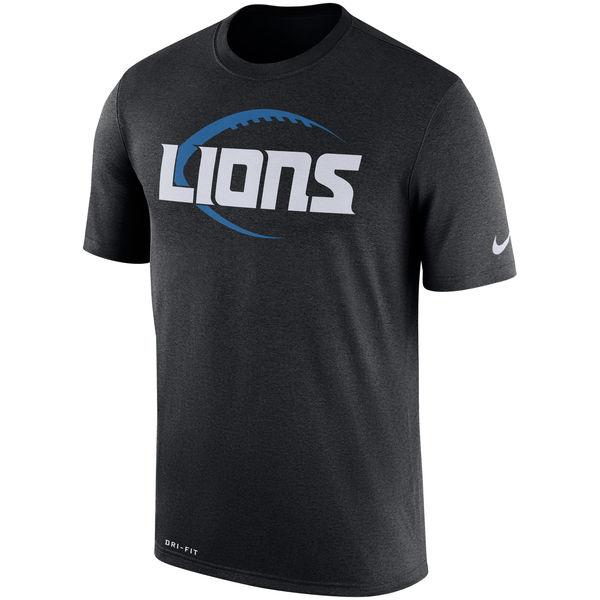 Men's Detroit Lions Nike Black Legend Icon Logo Performance T-Shirt