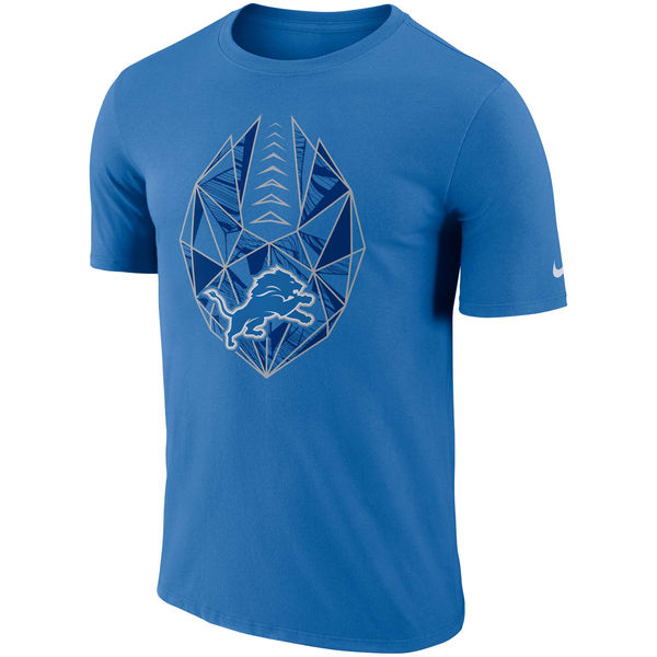 Men's Detroit Lions Nike Blue Fan Gear Icon Performance T-Shirt