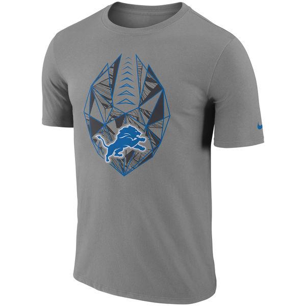 Men's Detroit Lions Nike Gray Fan Gear Icon Performance T-Shirt