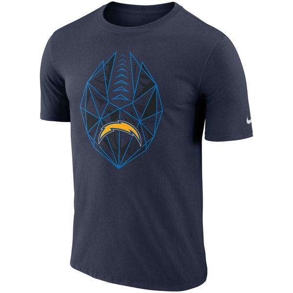 Men's Los Angeles Chargers Nike Navy Fan Gear Icon Performance T-Shirt