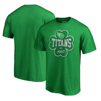 Tennessee Titans NFL Pro Line by Fanatics Branded St. Patrick's Day Emerald Isle Big and Tall T-Shirt Green