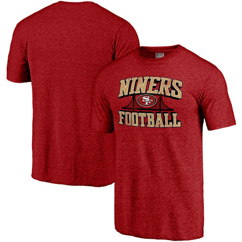 San Francisco 49ers Heathered Red Hometown Collection Tri-Blend NFL Pro Line by T-Shirt