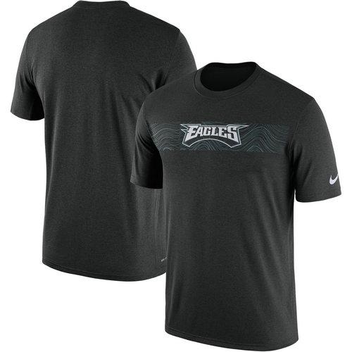 Philadelphia Eagles Nike Black Sideline Seismic Legend T-Shirt