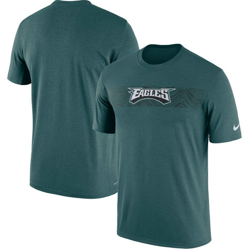 Philadelphia Eagles Nike Midnight Green Sideline Seismic Legend T-Shirt